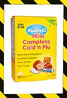 Hyland's, 4 Kids, Для детей от простуды и гриппа гомеопатия, 125 микро таблеток, фото 1