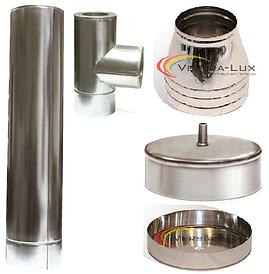 Комплект димоходу 7 метрів,130/200 мм, сталь 0.8 мм