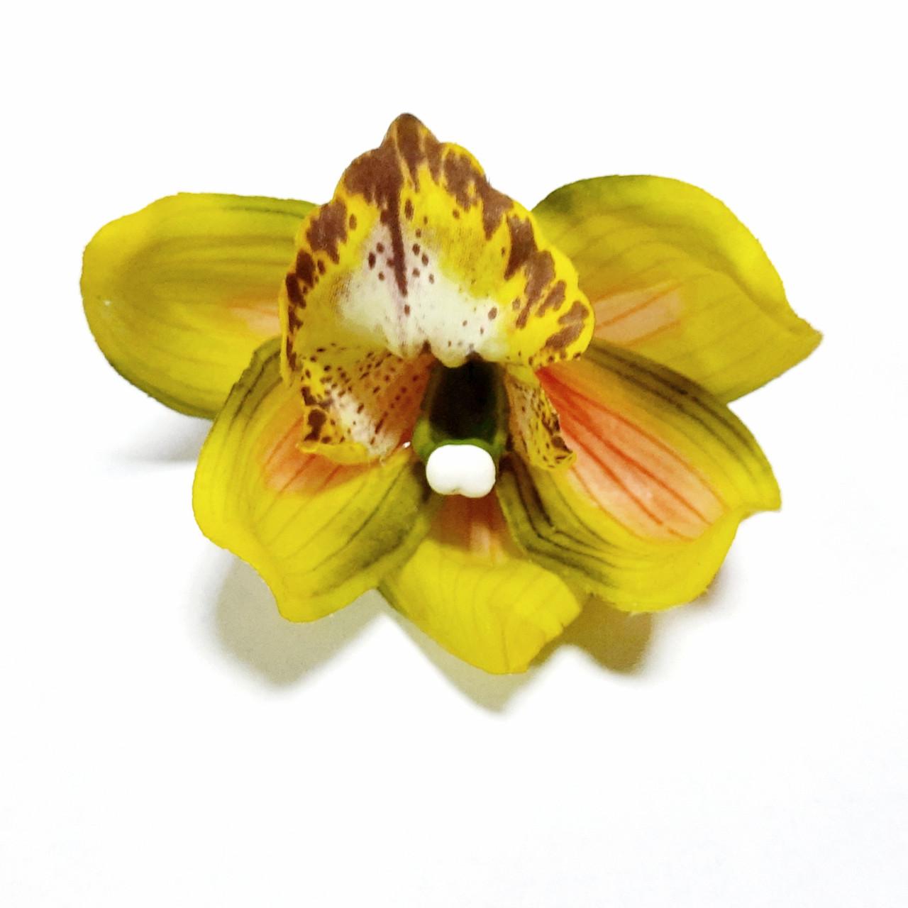 Головка орхидеи/цимбидиум латексная розово-салатовая
