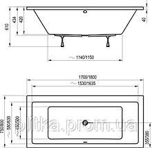 Ванная прямоугольная Ravak Formy 01 (Равак Форми) C881000000, фото 2