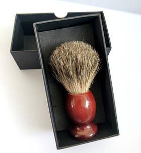 Помазок для гоління з дерева Shima з ворсом Борсука 01060
