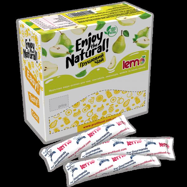 Вітамінний чай лемо Lemo - пюре фруктове для чаю , коктейлів, лимонад Грушевий 15*45г