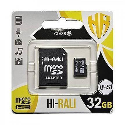 Карта памяти microSDHC (UHS-3) 32GB class 10 Hi-Rali (с адаптером), фото 2