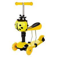 Детский самокат JR 3-016(Yellow)-UC MAXI, 2в1 (беговел)