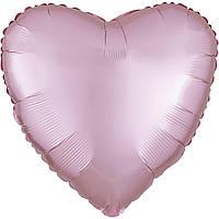 """Фольгированный шар Anagram Сердце 18"""" (46 см) сатин светло розовое"""