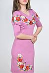 Яркое платье из качественного трикотажа украшено традиционной вышивкой маки, фото 2