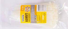 Хомут пластиковый белый, 3,6*150 мм, прочность 18кг, 100шт Mastertool (20-1806)