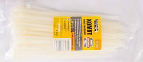 Хомут пластиковый белый, 4,8*200 мм, прочность 22кг, 100шт Mastertool (20-1813)
