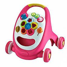 Каталка-ходунки 91157 сортер, погремушка, на бат-ке (Розовый 91157(Pink))