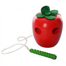 Деревянная игрушка Шнуровка MD 0494 (Яблоко)