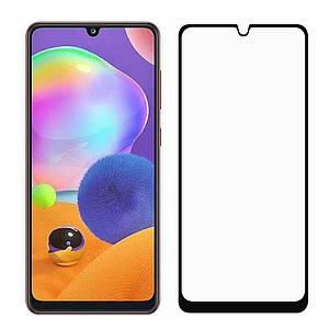 Защитное стекло для Samsung Galaxy A31 5д на весь экран защитное стекло на самсунг а31 черное