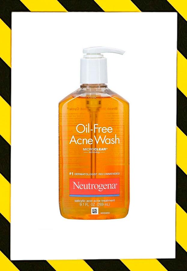 Neutrogena, Гель для умывания без масла от угревой сыпи, 9,1 мл (269 мл)