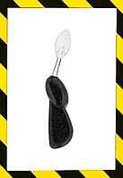 RADIUS, Big Brush, большая зубная щетка, мягкая, для правшей, черная с блестками, 1 шт.