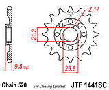 Звезда стальная передняя JT Sprockets JT JTF1441.13SC, фото 2