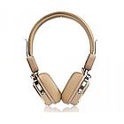Беспроводные Bluetooth наушники Remax RB-200HB накладные, стерео гарнитура, Beige, фото 3