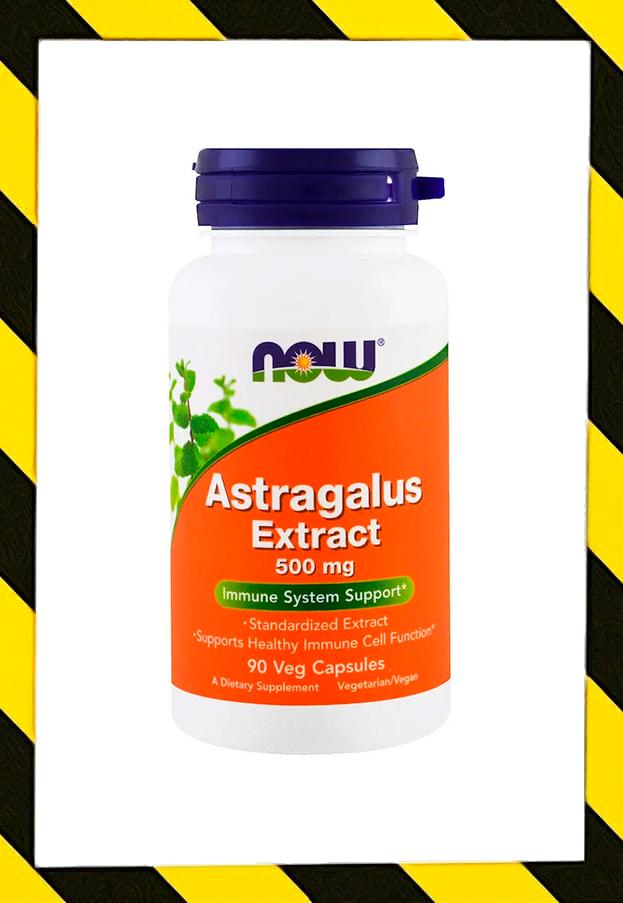 Now Foods, Экстракт корня астрагала (Astragalus перепончатого), 500 mg, 90 капсул