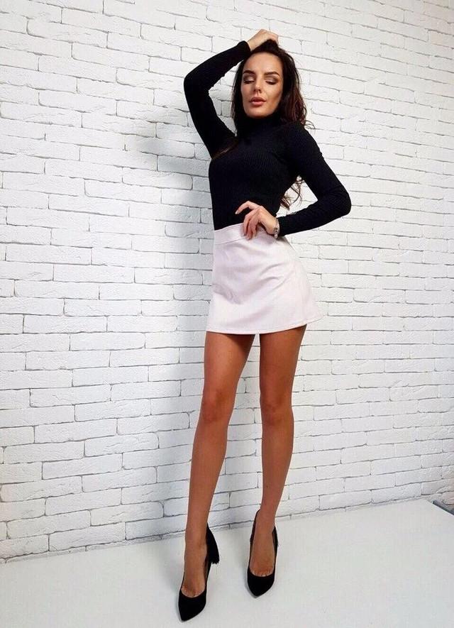 женская юбка мини из дайвинга