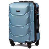 Дорожный чемодан wings 147 silver blue размер XS(мини), фото 1