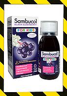 Sambucol, Чёрная бузина, Поддержка иммунной системы, для детей, сироп  (120 мл)