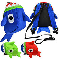 "Детский рюкзак Stenson ""Акула"" с поводком 21*16*10 см"