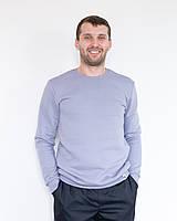 Теплый мужской свитшот с начесом серый, фото 1