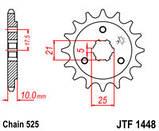 Звезда стальная передняя JT Sprockets JT JTF1448.15, фото 2