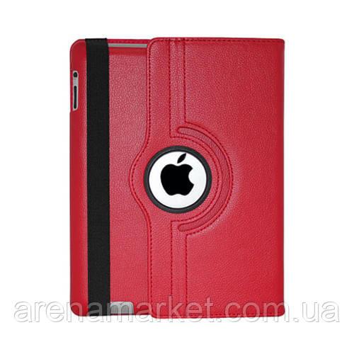 Чохол Smart Cover для iPad 2/3/4 з поворотом на 360 градусів - червоний колір