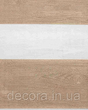 Рулонні штори день-ніч Зебра мадера, фото 2