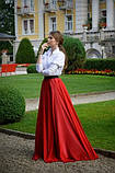 Женская красная шифоновая юбка макси, фото 3