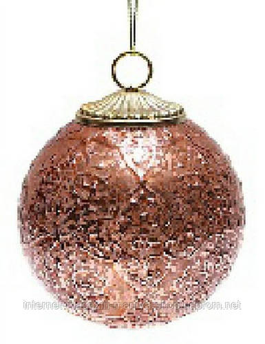 Елочный шар, античная медь, 8 см