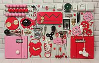 Бизиборд для дівчинки 50×80 см