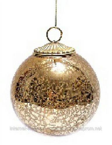 Елочный шар , античное золото, 8см