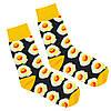 Шкарпетки яєчня з принтом шкарпетки жовто-чорні, модні високі шкарпетки р. 37-41, фото 3