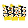 Шкарпетки яєчня з принтом шкарпетки жовто-чорні, модні високі шкарпетки р. 37-41, фото 2