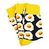 Шкарпетки яєчня з принтом шкарпетки жовто-чорні, модні високі шкарпетки р. 37-41, фото 4