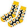Шкарпетки яєчня з принтом шкарпетки жовто-чорні, модні високі шкарпетки р. 37-41, фото 6