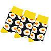 Шкарпетки яєчня з принтом шкарпетки жовто-чорні, модні високі шкарпетки р. 37-41, фото 5