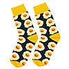 Шкарпетки яєчня з принтом шкарпетки жовто-чорні, модні високі шкарпетки р. 37-41, фото 8
