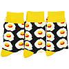 Шкарпетки яєчня з принтом шкарпетки жовто-чорні, модні високі шкарпетки р. 37-41, фото 7
