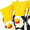 Шкарпетки яєчня з принтом шкарпетки жовто-чорні, модні високі шкарпетки р. 37-41, фото 9