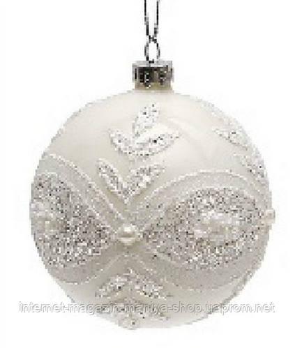 Елочный шар 8см белый