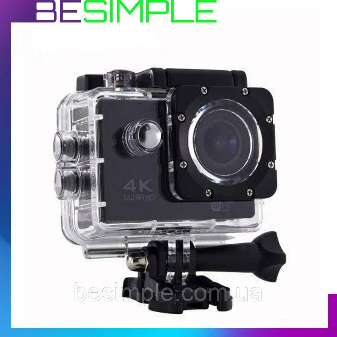 УЦЕНКА!  Экшн камера 4K - 16 Мп, водонепроницаемая - DVR SPORT S2, Wi Fi