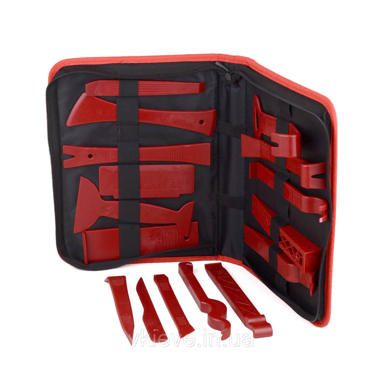 Инструменты для снятия обшивки (облицовки) авто Набор 16 шт в органайзере (СО-16-2ч-с)