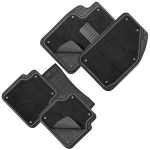 Коврики PVC съемный войлок КУ-16043 BK 5шт./компл. черные 74x50 47x50 23x50 (КУ-16043 BK)