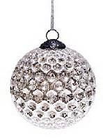 Набор шаров 10см (2) состаренное серебро