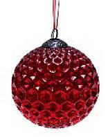 Набор шаров 10см (2) состаренный красный