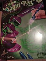 Рисуем светом / Набор для творчества / Neon light pen. ручка ультрафиолетовая развивающее творчество