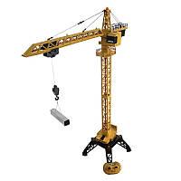 Радиоуправляемый башенный металлический  кран 1585