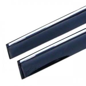 Дефлекторы окон Volvo V40 2012 -> С Хром Молдингом (V17-M)