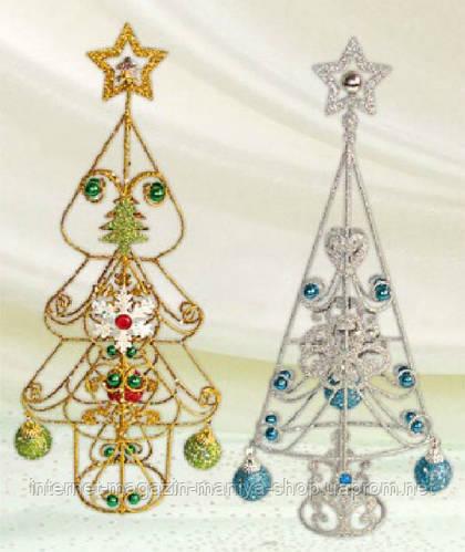 Декоративная елка с шарами, 35см
